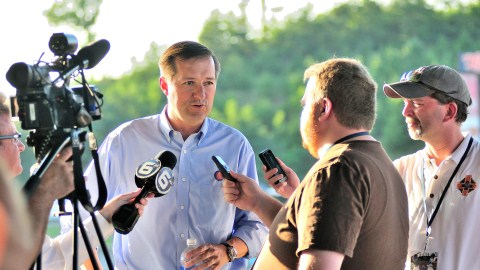 Cubs Chairman Tom Ricketts meets with media at Smokies Park.