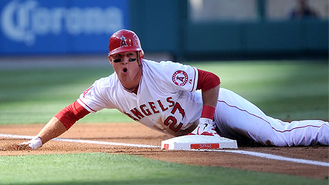 Mike Trout appeared in 20 games at Triple-A Salt Lake this season.